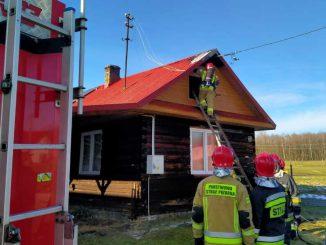 Pożar budynku mieszkalnego w Hucinie
