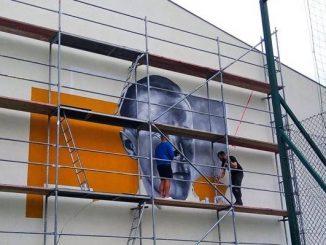 W Weryni powstaje mural Józefa Batorego [FOTO]
