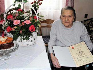 Pani Wanda Magda z Kosów kończy dziś sto lat